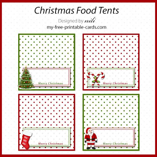 Massif image for free printable food tent cards