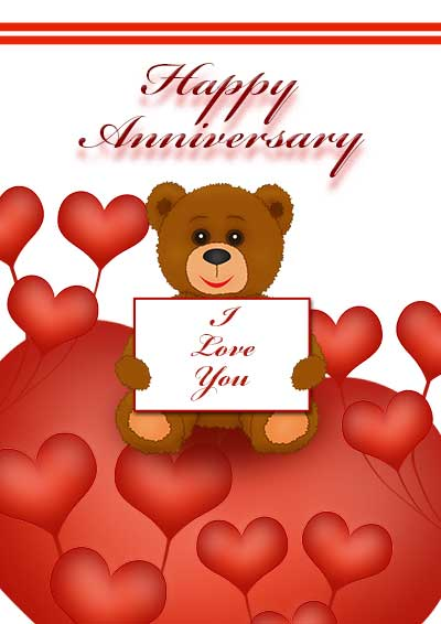 free printable anniversary cards – Printable Wedding Anniversary Cards