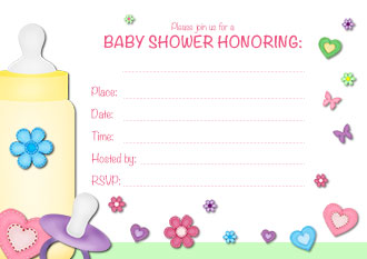 and information baby shower invitations for girls free printable