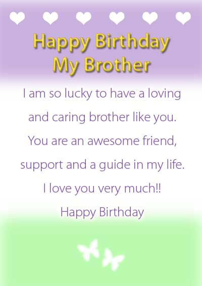 happy birthday my brother cards