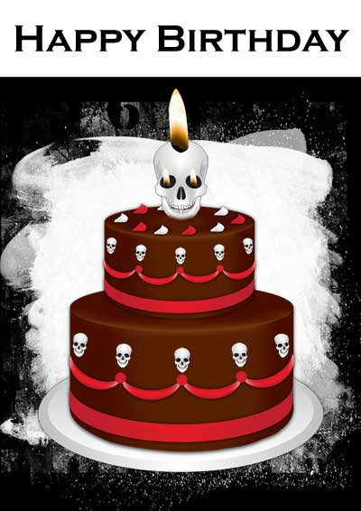 Pin Free Printable Gothic Birthday Cards Cake on Pinterest