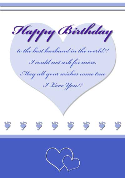 Free Printable Birthday Cards For Husband Free Printable Birthday