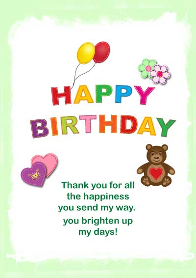 download bright colorful kids birthday card