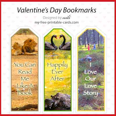 Valentine Day Bookmarks view