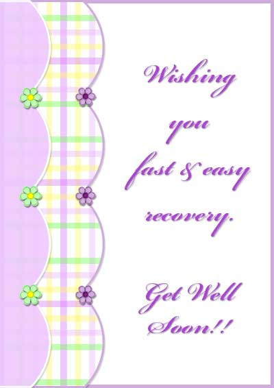 Comprehensive image in free printable get well cards