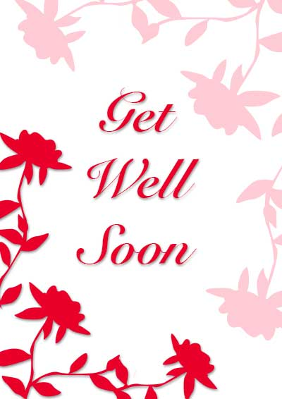 Effortless image throughout get well cards printable