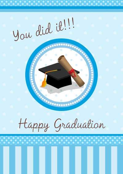Eloquent image inside free graduation cards printable