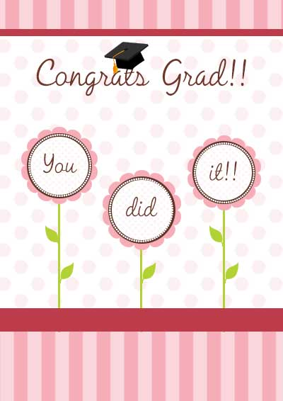 Critical image with free printable graduation card