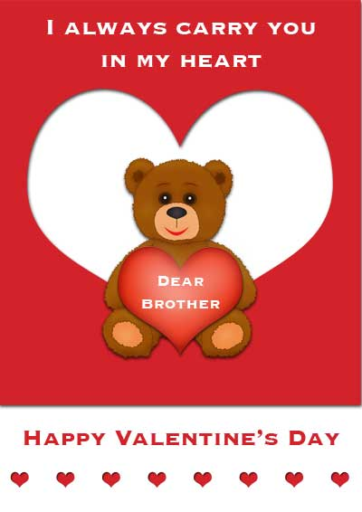 Printable Valentine Cards for Brother and Sister