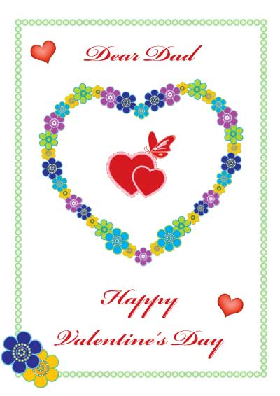 Printable Valentine Cards for Mom and Dad – Valentines Card for Dad