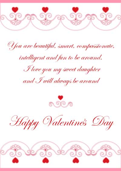 Printable valentine cards for son and daughter beautiful valentines day cards for your daughter m4hsunfo