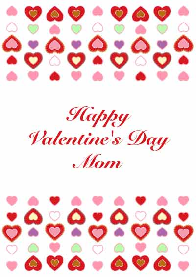 Printable Valentines Day Cards For Mom – Valentines Cards for Mom