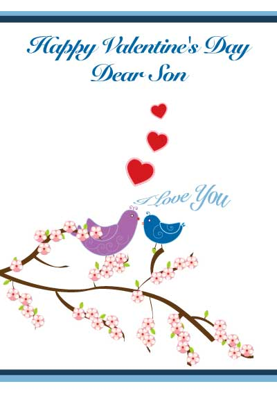 Printable Valentine Cards for Son and Daughter – Valentine Cards for Son