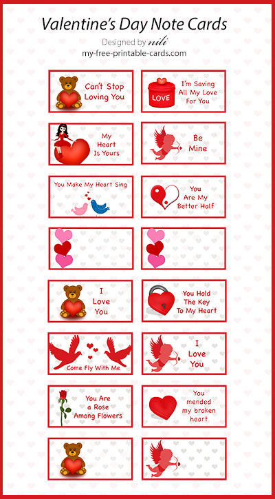Valentine Day Note Cards view