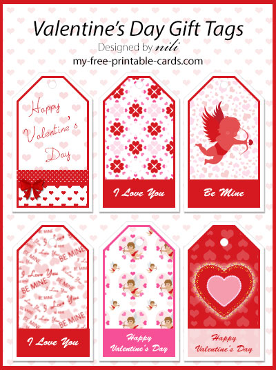Valentine Day Gift Tags view