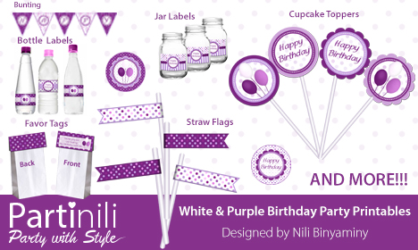 Printable Party decoration set