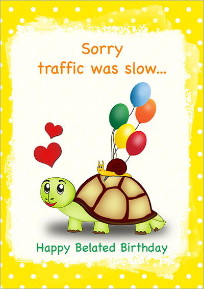 Sorry... Traffic Was Slow 001