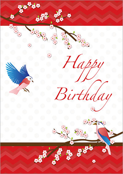 Blossom Love Birds Birthday 005