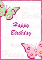 Happy Birthday Butterflies Card 012