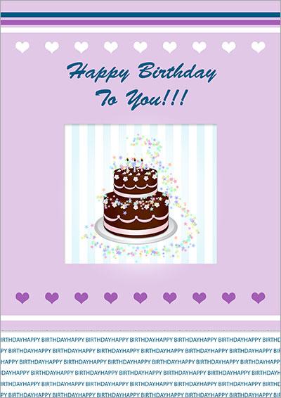 Chocolate Birthday Cake Card 013