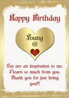Young At Heart Birthday Card 014