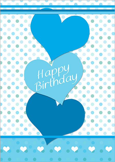 Happy Birthday Hearts Card 017