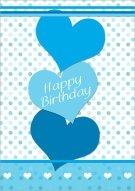 Happy Birthday Hearts Card 017
