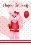 Pink Teddy Birthday Present 025