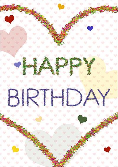 Fuzzy Heart Birthday Card 027