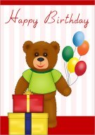 Teddy Bear Birthday Presents  028