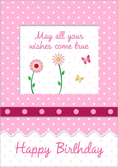 Wishes Come True Birthday Card 030