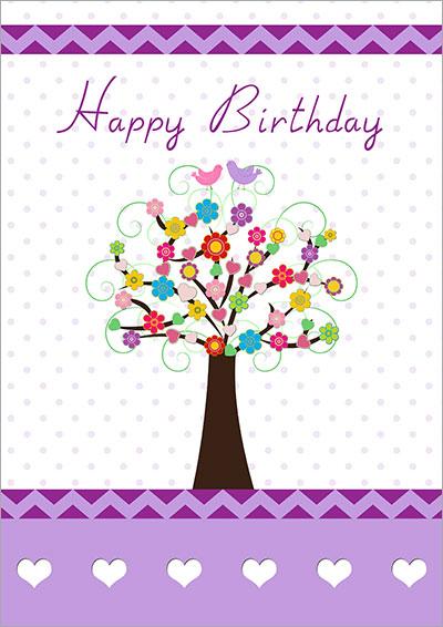 Love & Happiness Tree Card 039