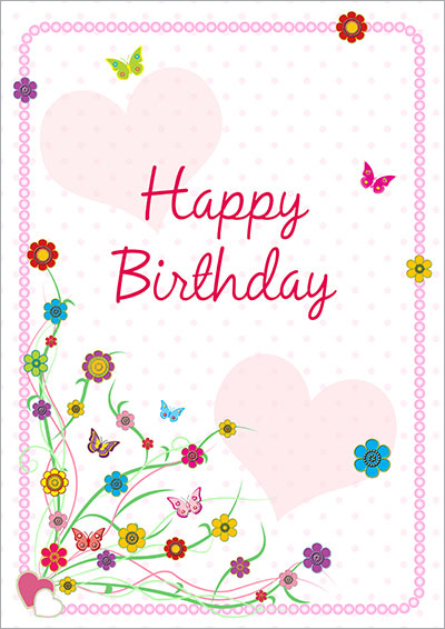 Colorful Birthday Greeting Card 040