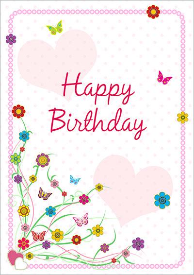 Colorful Birthday Greeting Card 040
