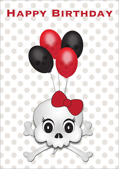 Gothic Happy Birthday Baloons 001