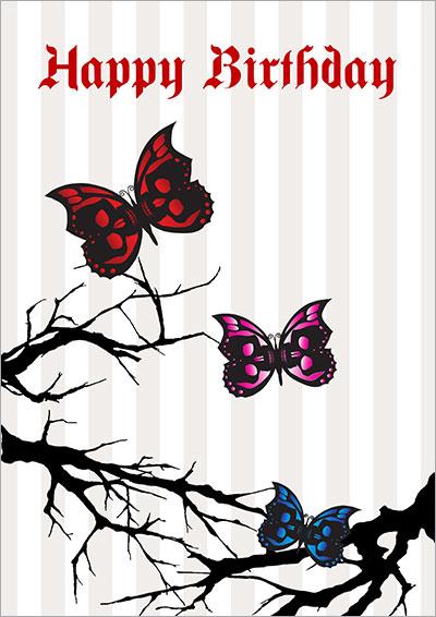Gothic Skull Butterflies 002