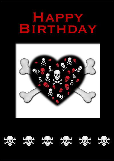 A Skull Black Heart 003