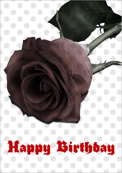 Gothic Black Rose Birthday 005