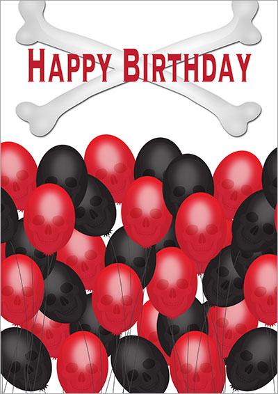 Skull Balloons Gothic Birthday 006