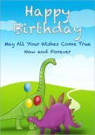 A Dinosaurs Birthday Wishes 002