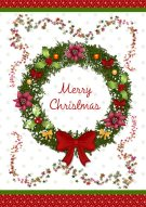 Christmas Wreath Printable Card 004