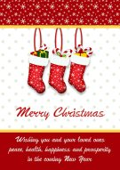 Merry Christmas Stockings Card 007
