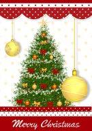 Merry Christmas Tree Card 016