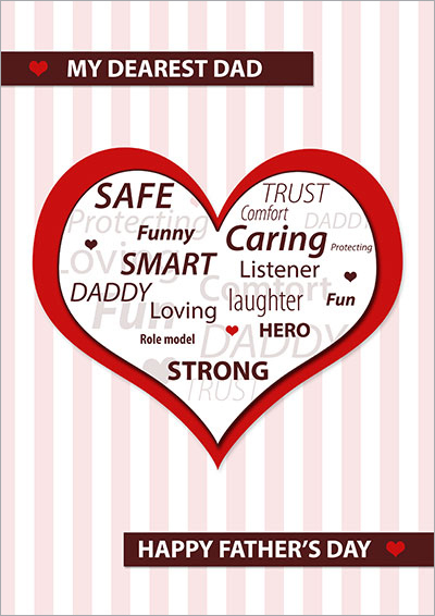 My Dad is...Heart Printable Card 004