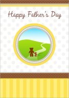 My Papa Bear Printable Card 007