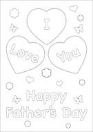 I Love You Father's Day Color Card 003