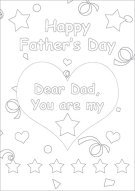 You Are My Star Dad Color Card 008