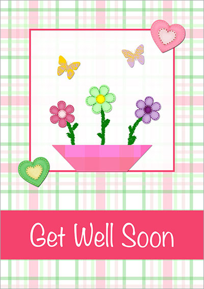 Accomplished image inside free printable get well cards