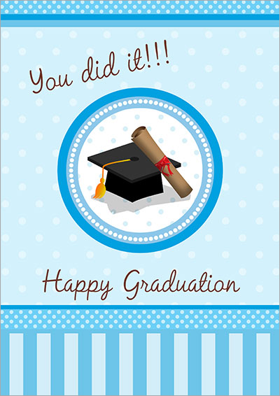 You did it Grad!! Card 001