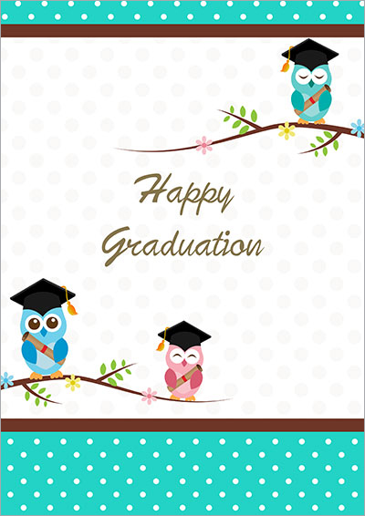 A wise Owl graduation card 003